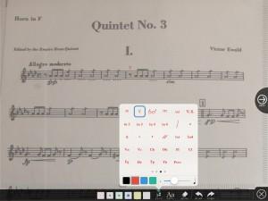 楽譜への書き込み7