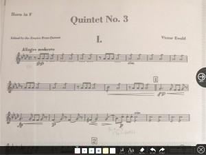 楽譜への書き込み2