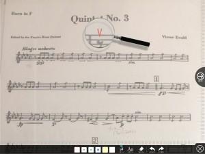 楽譜への書き込み4
